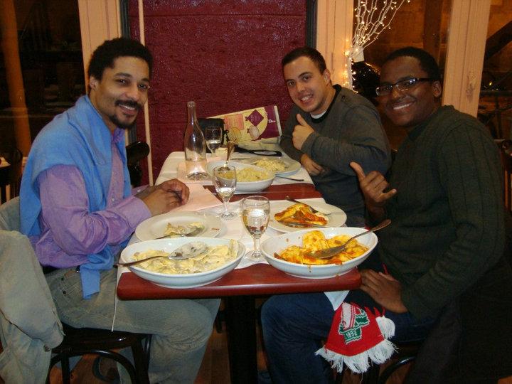 Benoît, Gustavo e Renato no PastaPatá Paris