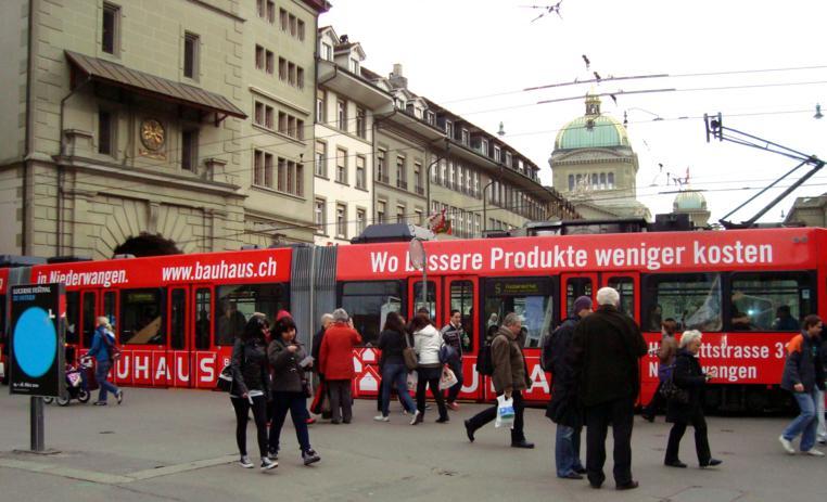 Chegando em Berna, capital da Suíça