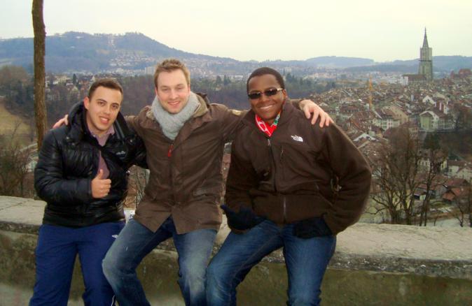 Passeando pelo centro antigo de Berna
