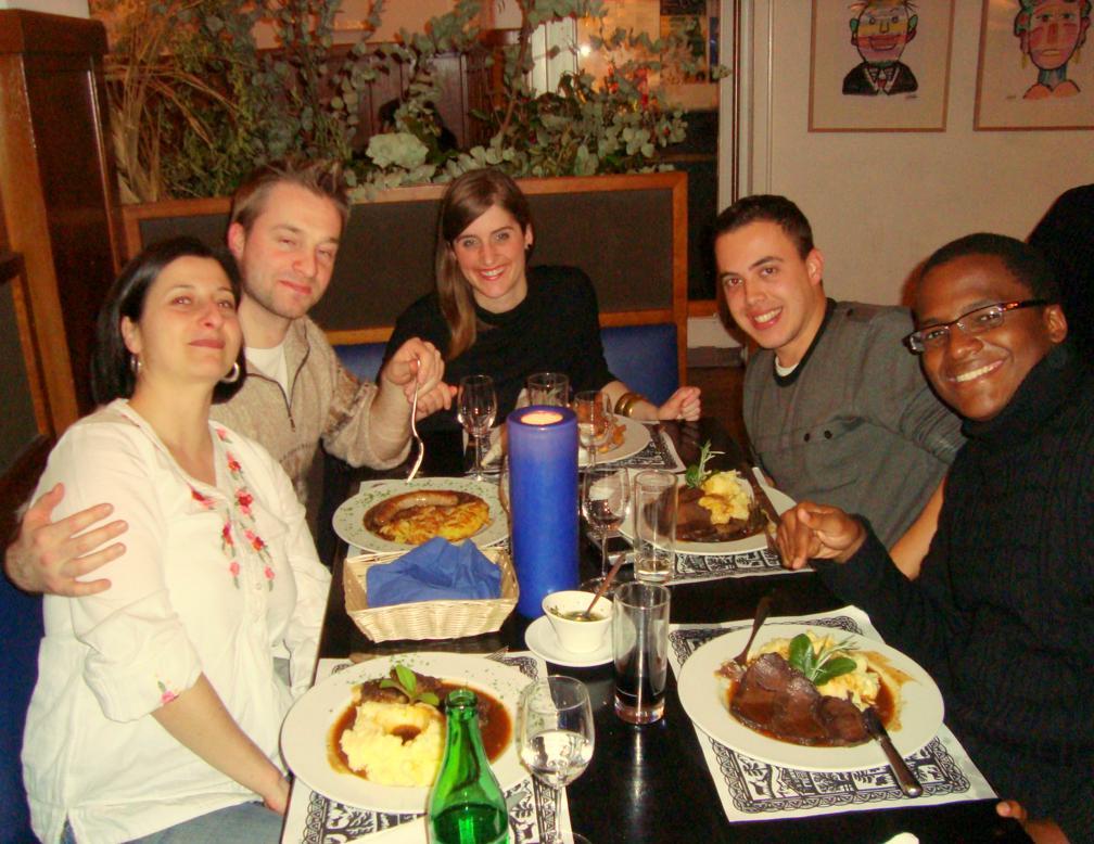 Despedida de Berna e dos amigos