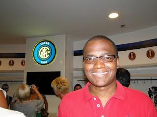 Renato no vestiário do Inter de Milão
