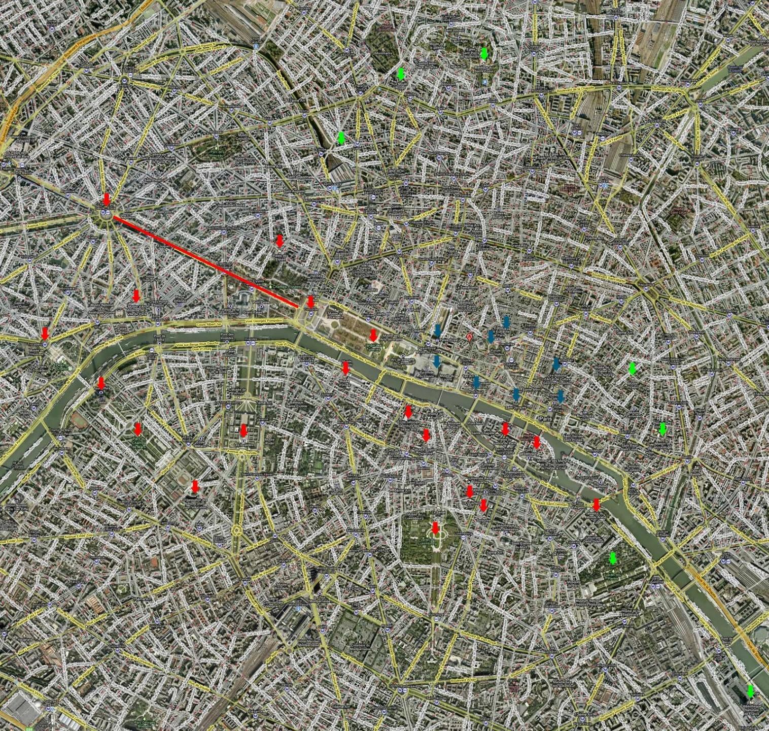 Planejamento de Paris pré-definido