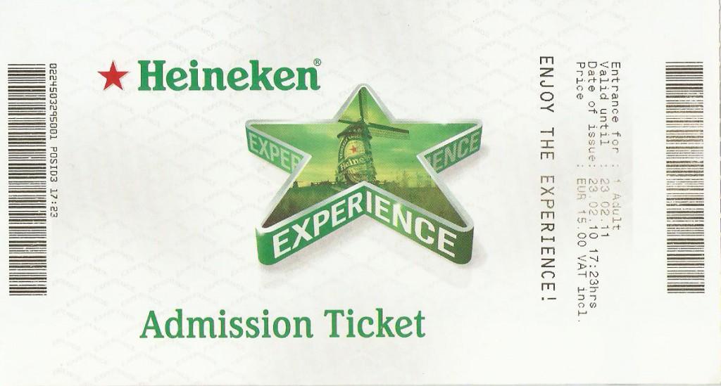 Bilhete Heineken Experience