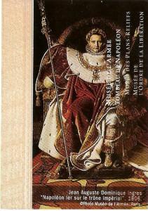 Napoleão estampado no bilhete do Musée de l'Armée