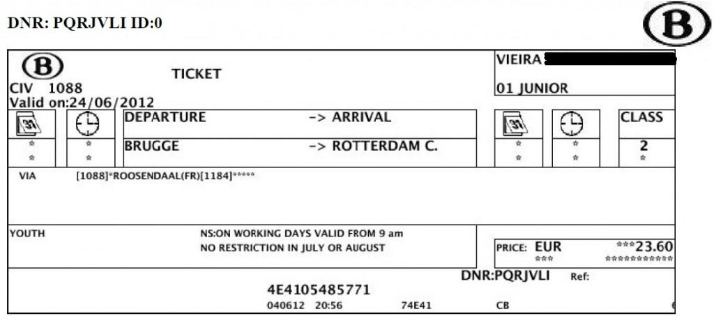 SNCB - Bruges x Rotterdam
