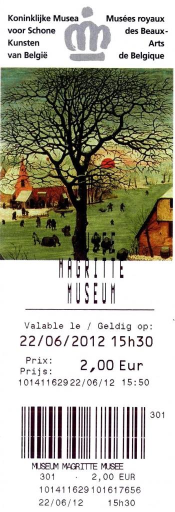 bilhete Magritte Museum