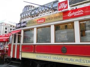 Tram Café na Václavské náměstí