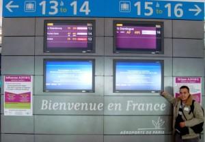 Gustavo no Charles de Gaulle antes do incidente...
