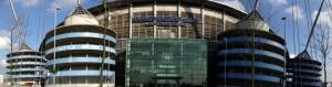 Foto panoramica que tiramos do estádio do Man City