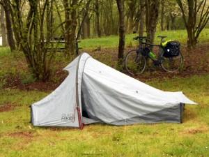 A barraca e a bicicleta