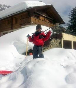 Para o Lucca a maior diversão foi a neve!