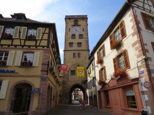Eu na Grand Rue em Ribeauvillé