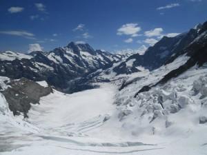 Vista da Sphinx no Jungfraujoch