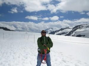 Tyrolienne no Jungfraujoch