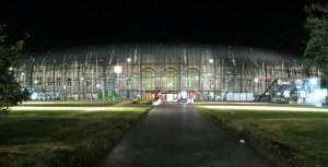 Gare de Strasbourg iluminada a noite