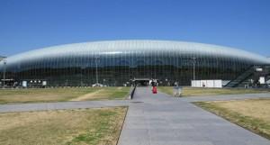 Gare de Strasbourg com sua cobertura de vidro