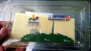 Amostras do queijo Gruyère