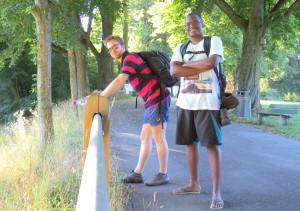 Michael e eu em Elfenau