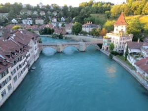 Vista do Rio Aare da Nydeggbrücke