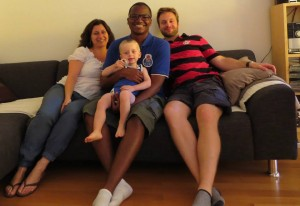 Cristina, Renato, Lorenzzo e Michael em Berna