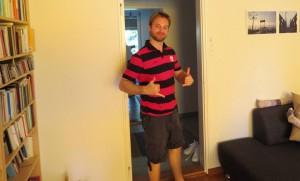 Michael com a camisa do Mengão!