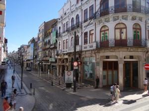 Rua Santa Catarina na esquina do Café Majestic