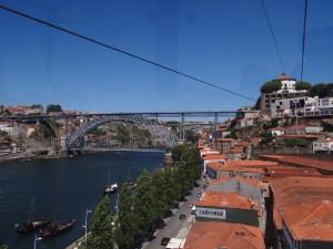 Vista da Ponte Dom Luis do alto do Teleférico de Gaia