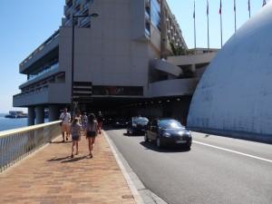 Entrada do túnel Louis II