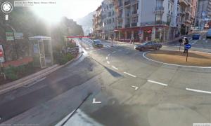Estação do ônibus 100 Menton-Monaco-Nice