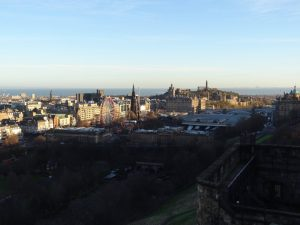 Edimburgo vista de cima do Castelo