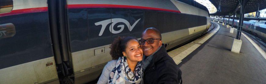 Viajando de TGV de Paris a Reims
